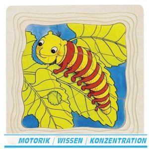 Schichtenpuzzle Die Raupe - Goki 57523 - Für Kinder ab 3 Jahre
