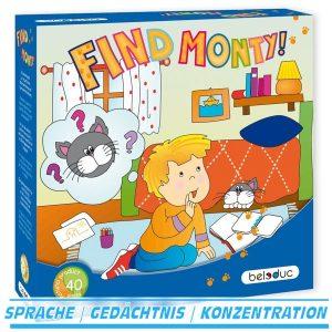 Find Monty! Kinderspiel mit Lernsteigerung - beleduc 22420 - Verpackung
