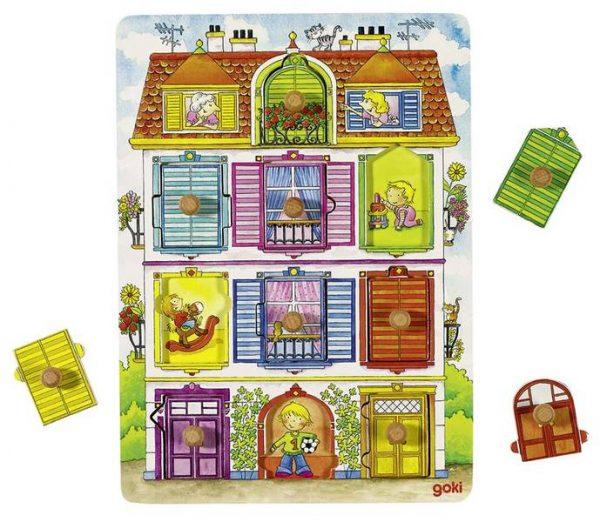 Goki 57598 - Holz Hintergrundbildpuzzle - Unsere Villa