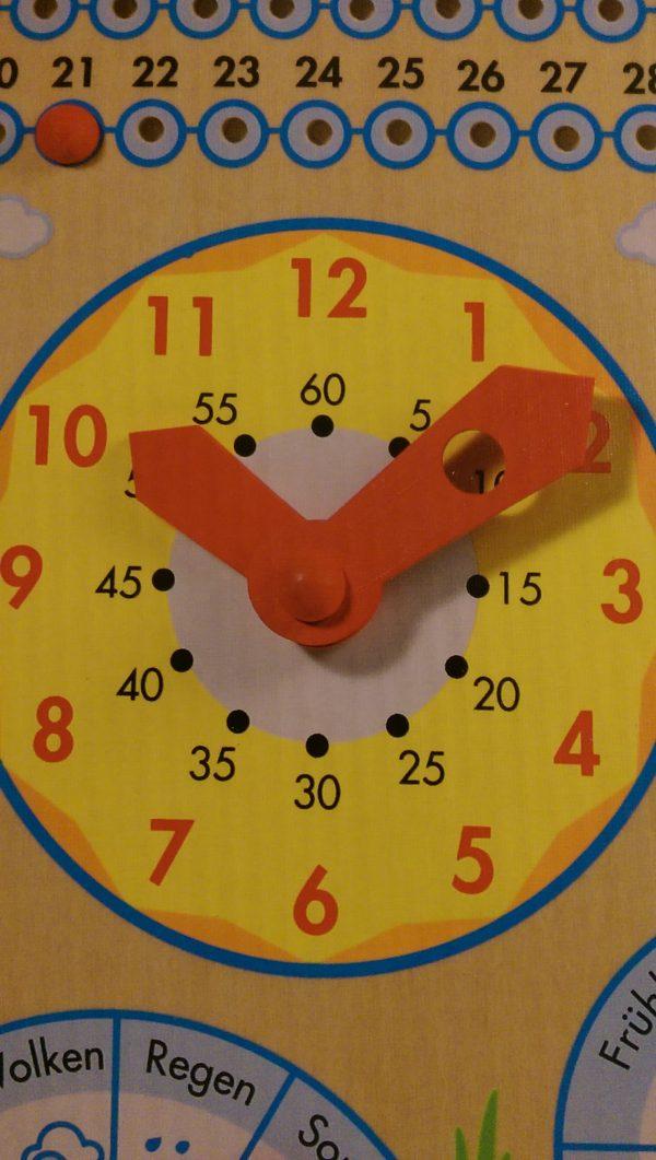 Jahresuhr - Stunden- und Minutenzeiger