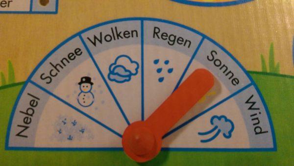 Jahresuhr - Wetteranzeige