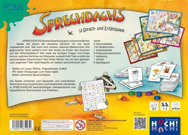 Huch & Friends 74030 - Sprechdachs - Lernspiel - Verpackung Rückseite