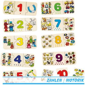 Goki 57594 - Puzzle - Zählen und zuordnen