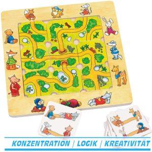 Legespiel Finde den Weg - Goki 56944 - Legepuzzle ab 4 Jahre