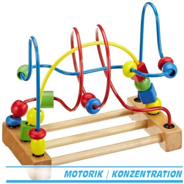 Motorikschleife Goki 59982 - Motorikschleife Holz ab 1 Jahr