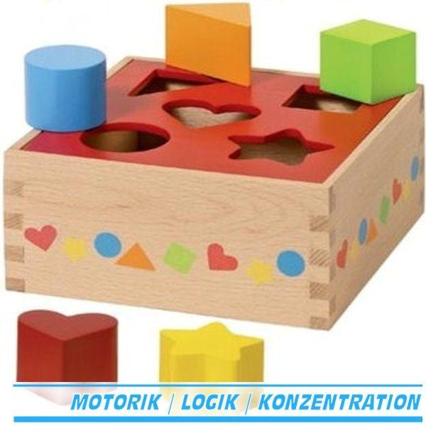 Sortierbox / Steckbox / Sortbox Goki 58580 ab 12 Monate
