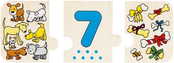 Goki 57594 - 3 Puzzleteile ergeben eine richtige Reihe