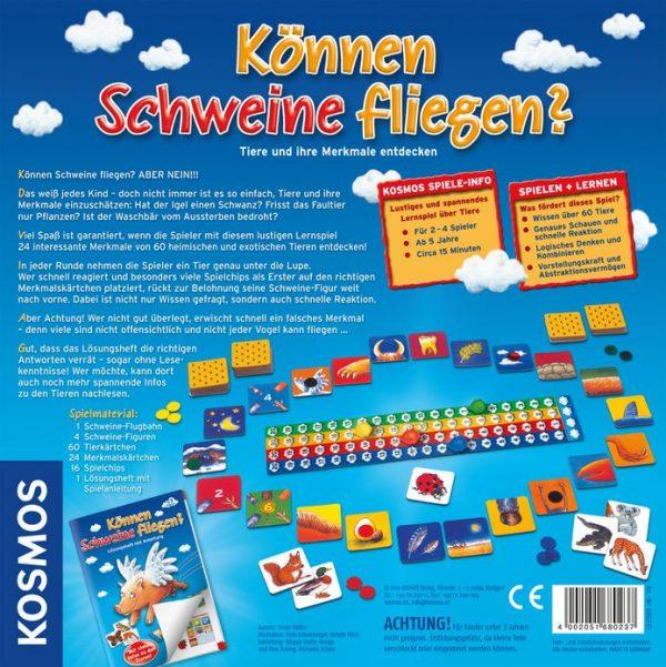 Können Schweine fliegen? - Kosmos 680237 - Rückseite mit Beschreibung