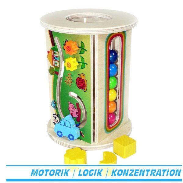 Motorikrolle / Motorikbox aus Holz - Hess 14916