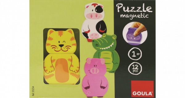 Magnetisches Holzpuzzle Tiere, 12-teilig - Goula D55234 - Verpackung