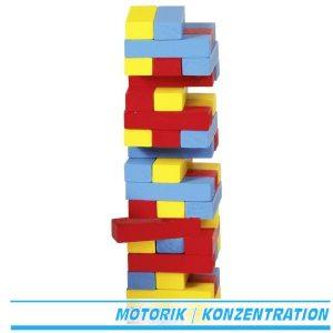 Goki HS973 - Geschicklichkeitsspiel - Wackelturm aus bunten Steinen