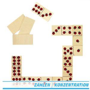 Domino-Spiel Marienkäfer (ladybird) - Goki 56716 - ab 3 Jahre
