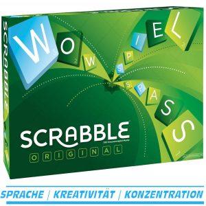 Scrabble Original von Mattel, das weltbekannte Kreuzwortspiel ab 10 Jahre