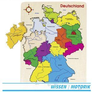 Einlegepuzzle Deutschland II - goki 57860