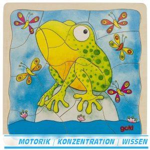 Schichtenpuzzle Der Frosch - Goki 57524 - Froschlaich