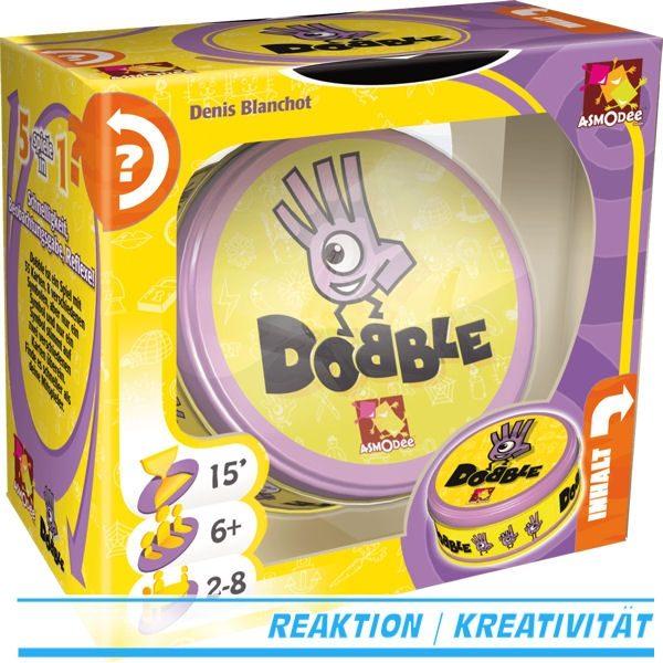 Dobble kaufen - Asmodee 200960 - Legespiel - 3D-Box