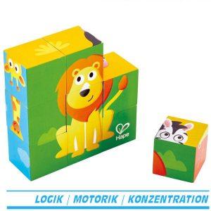 Würfelpuzzle Dschungel Puzzleklötze Blockpuzzle E1619 von Hape ab 2 Jahre