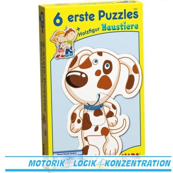 6 erste Puzzle Haustiere 3902 Von Haba ab 2 Jahre