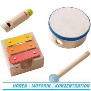 Kleiner Klangbaukasten von Haba - 3 Instrumente