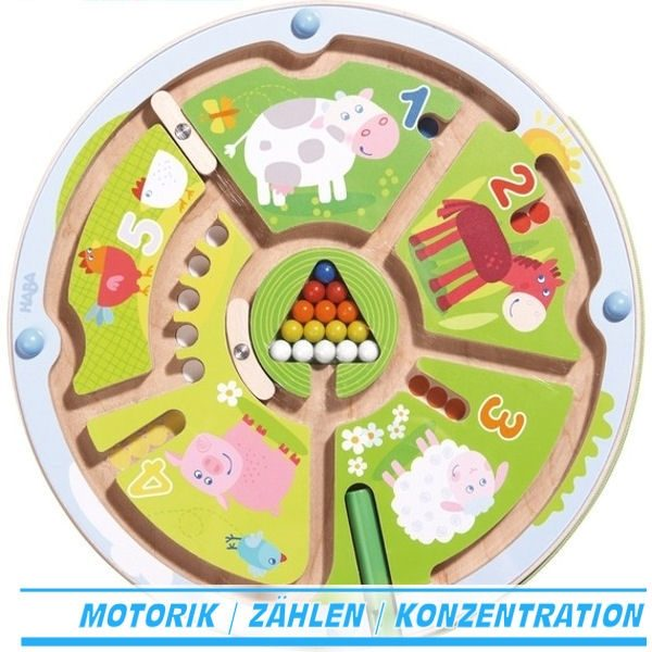 Magnetspiel Zahlenlabyrinth 301473 Haba Geschicklichkeitsspiel mit Magnetspiel Zahlen Zählen
