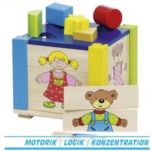 Große Puzzle- und Formenkiste - Goki 58902 - Ab 12 Monate