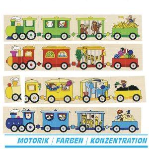Goki 56945 - Anlege- und Memospiel - Lokomotiven
