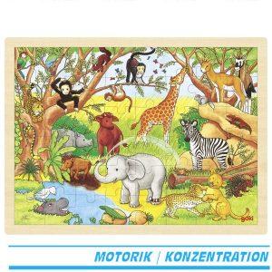 Einlegepuzzle Afrika - Goki 57892