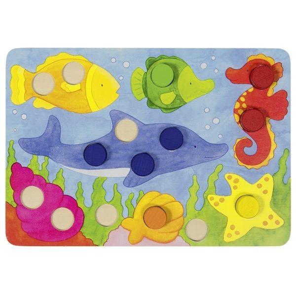 Farbwürfelspiel Goki 56705 - Fische