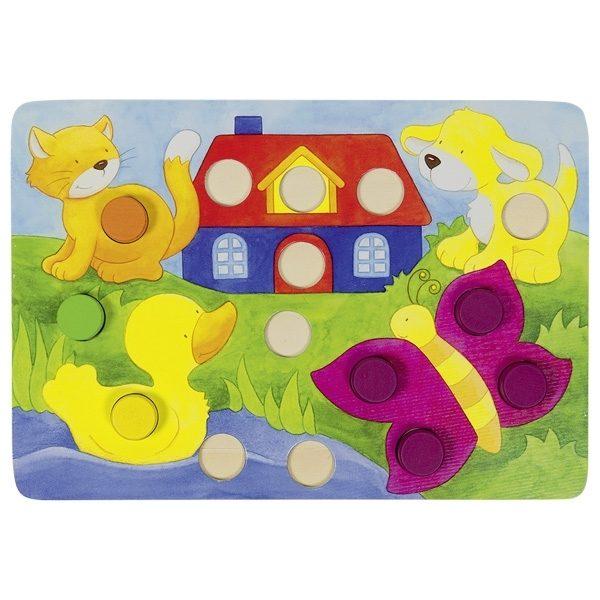 Farbwürfelspiel Goki 56705 - Tiere