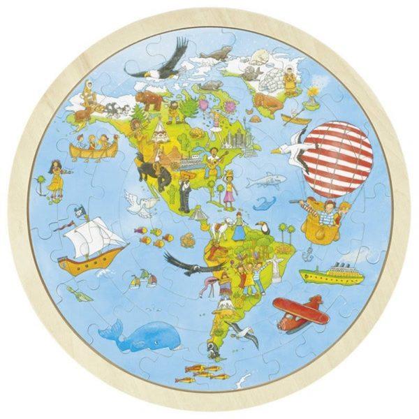Einlegepuzzle Auf Weltreise