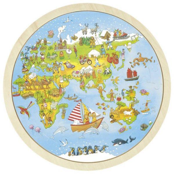 Einlegepuzzle Auf Weltreise-379