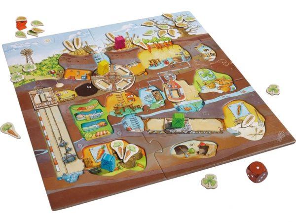 Hamsterbande ein Familienspiel ab 4 Jahre von Haba Spielbrett mit beweglichen Elementen