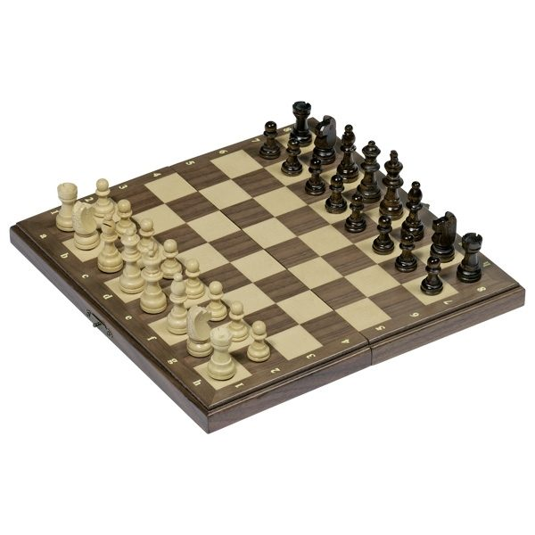 Goki 56920 - Magnetisches Schachspiel in Holzklappkassette