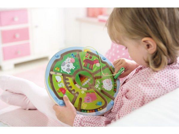 Magnetspiel Zahlenlabyrinth von Haba, ein Geschicklichkeitsspiel ab 2 Jahre