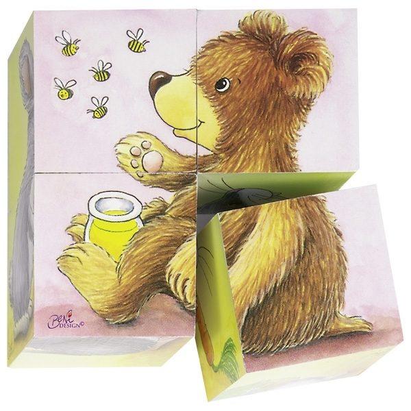 Würfelpuzzle Tierkinder von Goki ab 2 Jahre