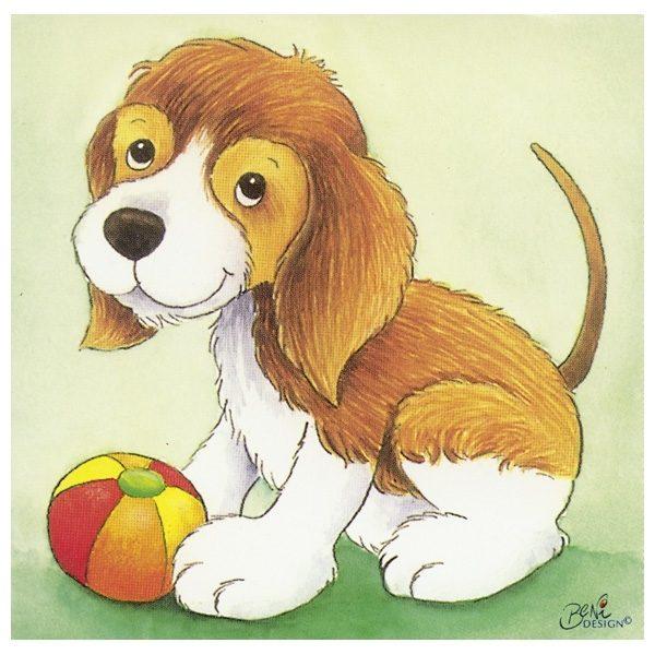 Würfelpuzzle ab 2 Jahre mit Tierkindern von Goki - Hund