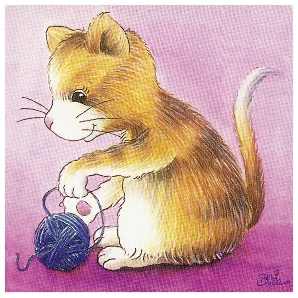 Würfelpuzzle ab 2 Jahre mit Tierkindern von Goki - Katze