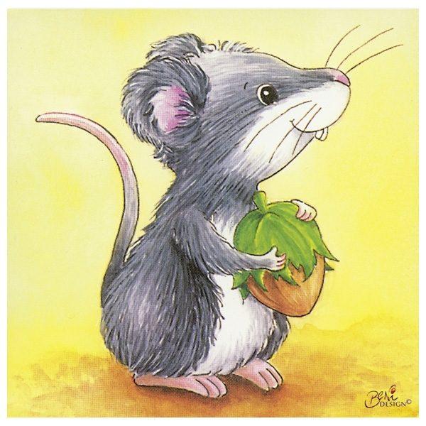 Würfelpuzzle ab 2 Jahre mit Tierkindern von Goki - Maus