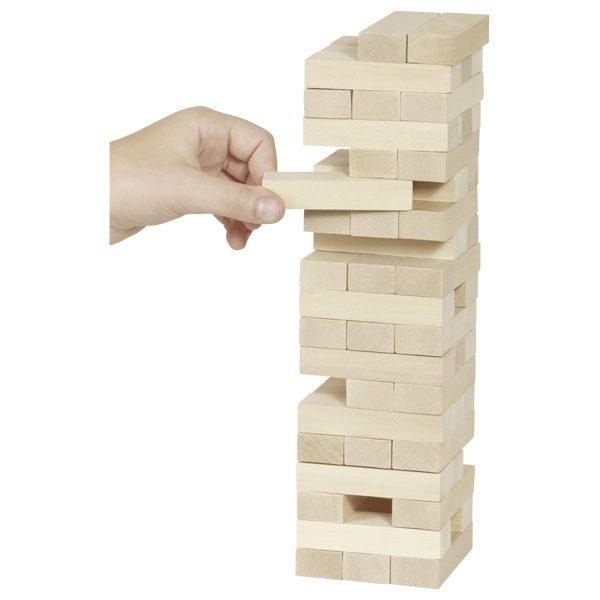 Geschicklichkeitsspiel Wackelturm (Jenga)