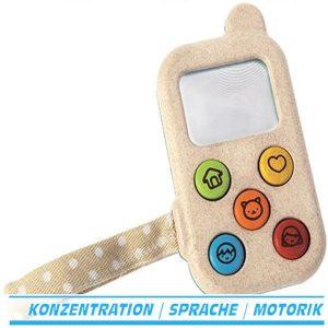 Plan Toys my first phone, mein erstes Telefon Handy aus Holz