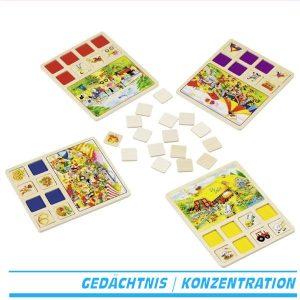 Ereignislotto 56740 Lottospiel von Goki aus Holz lotto Bilderlotto