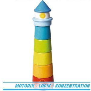 Haba Stapelspiel leuchtturm 300170 Stapelturm ab 1 Jahr