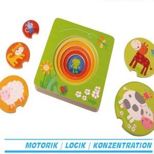 HABA Holzpuzzle Bauernhof freunde lagenpuzzle Holz haba 301647 für kind ab 1 jahr