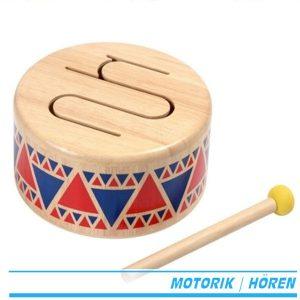 6404 solid drum Holztrommel Instrument plan toys trommel
