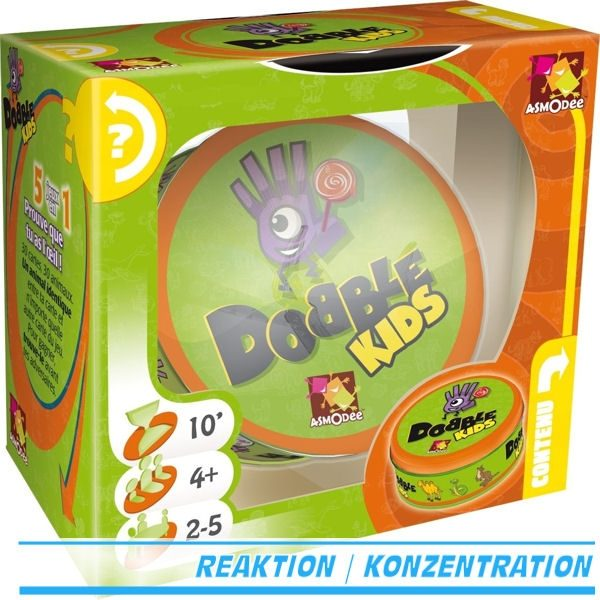 Dobble Kids - Asmodee 001769 - Legespiel - 3D-Box