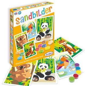 Carletto 3980500 - Sandbilder Bedrohte Tiere