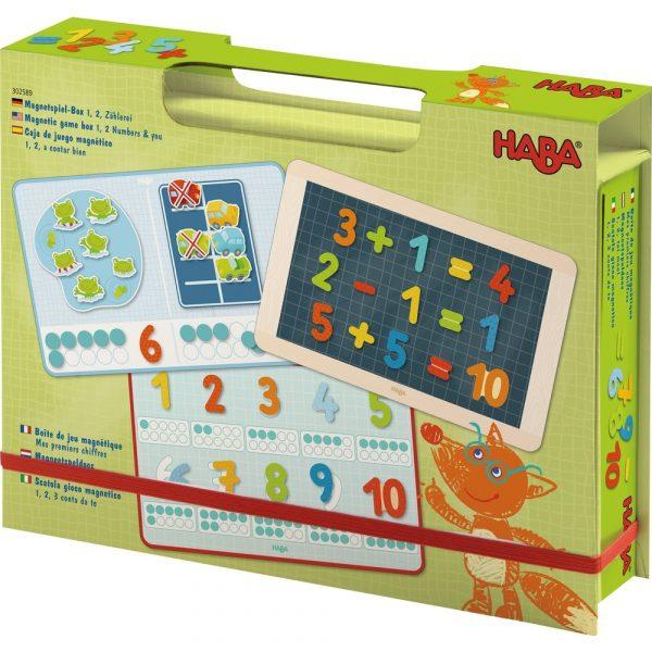 Haba 302589 - Magnetspiel-Box 1, 2, Zählerei