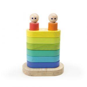 Tegu 5700808 - Baby Magnetspielzeug Stapelturm