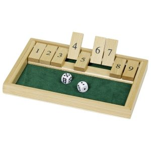 Goki WG175 - Würfelspiel Shut the box