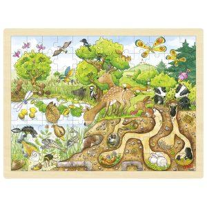 Goki 57582 - Einlegepuzzle Erlebnis Natur